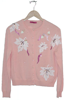 Women's 3/4 Long Sleeve Beaded and Embroidered Vintage Cardigan #9672