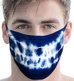 100% Cotton Knit Real Tie-Dye Face Mask #15260BC-O/S and Wire Nose Guard - IDI Clothing - Where you can buy directly for the designer manufacturer-Made In USA :)