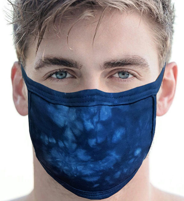 100% Cotton Knit Real Tie-Dye Face Mask #15260CW O/S and Wire Nose Guard