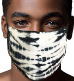 100% Cotton Knit Real Tie-Dye Face Mask #15260SB  and Wire Nose Guard Made In USA