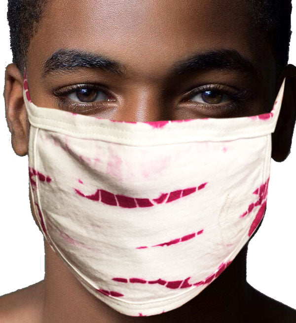 100% Cotton Knit Real Tie-Dye Face Mask #15260SB-06 and Wire nose guard