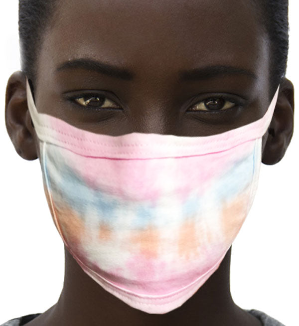 100% Cotton Knit Real Tie-Dye Face Mask #15260TD-07 and Wire nose guard
