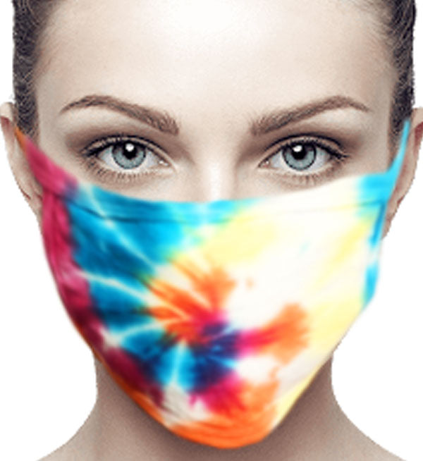 100% Cotton Knit Real Tie-Dye Face Mask #15260TD-10 and Wire nose guard