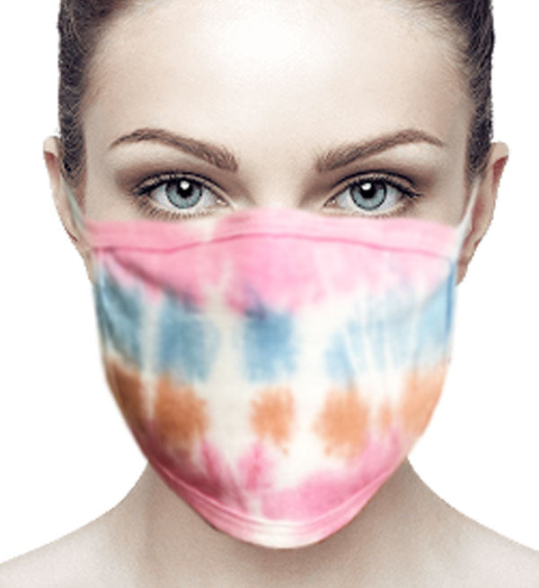 100% Cotton Knit Real Tie-Dye Face Mask #15260TD-11 and Wire Nose Guard