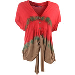 Women's Tie Dye Knit Top Cardigan #10977