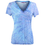 Women's Royal Blue V-neck Tee Top  #11122