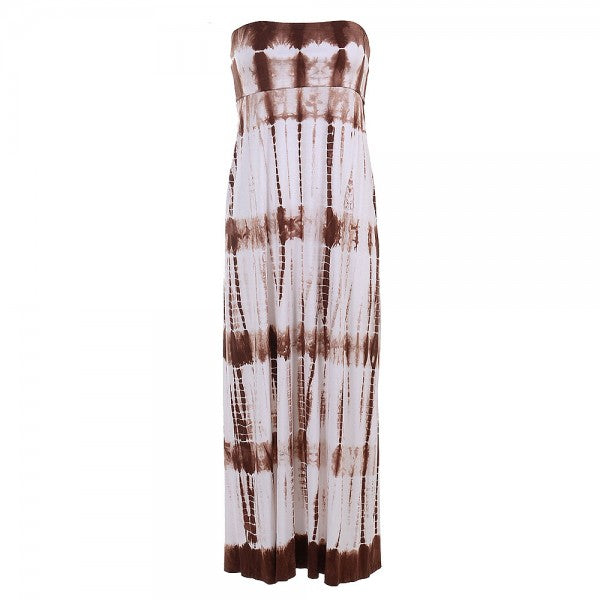 Women's Tie Dye Tube Dress Or Skirt #12782 TBD White Chocolate - IDI Clothing - Where you can buy directly for the designer manufacturer-Made In USA :)