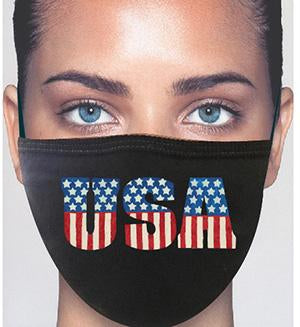 100% Cotton Knit USA Face Mask #15260USA  Nose Guard Wire Made In USA