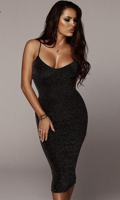 Elegant Strap Cocktail Dress