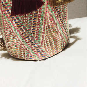 Original Cylindrical Straw Bag