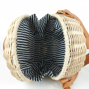 """Bali"" Round Summer Straw Bag"