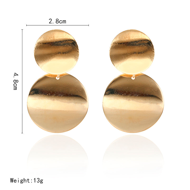 Luxury Round Women Earrings Gold/Silver