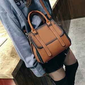 Classic Leather Handbag With Should Strap