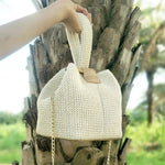 Knit Handmade Summer Straw Bag