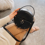 Vintage Leather Round Bag
