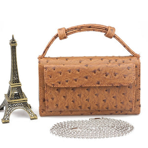 Designer Genuine Leather Snake Pattern Handbag