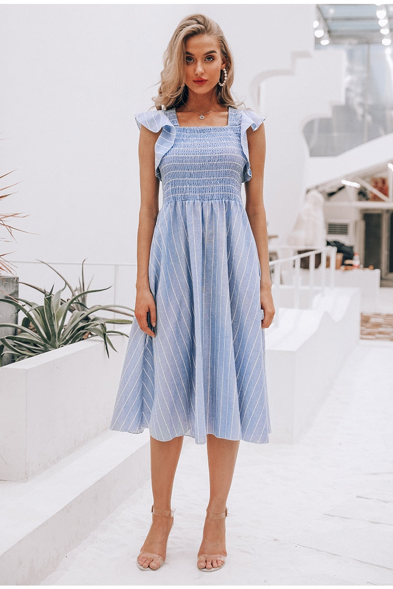 Striped Summer Linen Dress