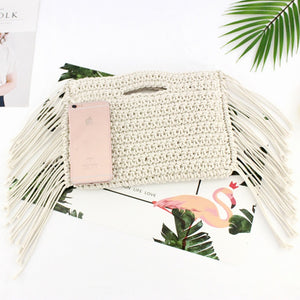 Stylish Fringe Straw Bag
