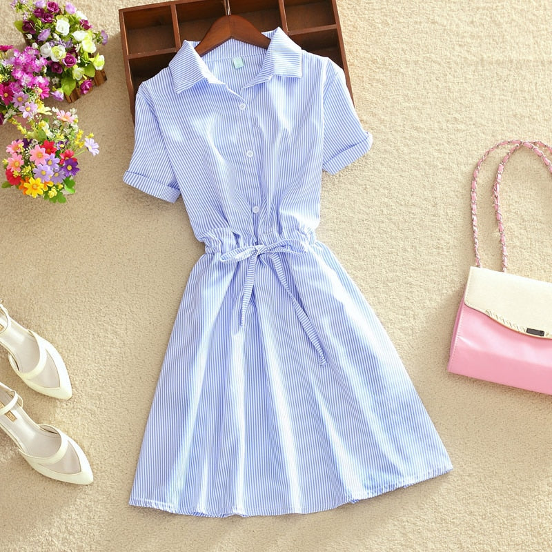 Elegant Summer Shirt Dress Classic Look