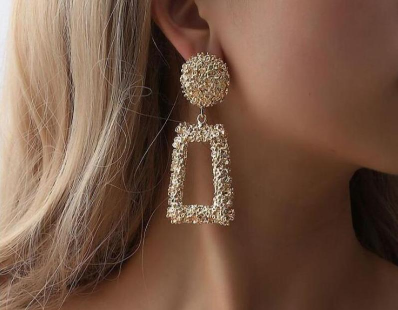 Luxury Geometric Long Earrings