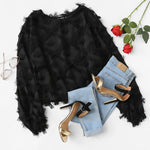 """Black Orchid"" Charming Ornamented Women Blouse"