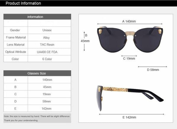 Skull Frame Women Sunglasses