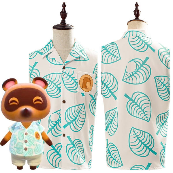 Bosque de Los Animales Animal Crossing Tom Nook Camisa Cosplay Disfraz