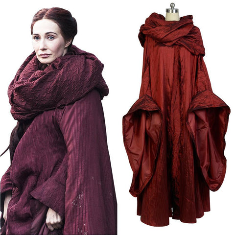 GoT Game of Thrones The Red Woman Traje de cosplay de Melisandre Outfit Cosplay Disfraz