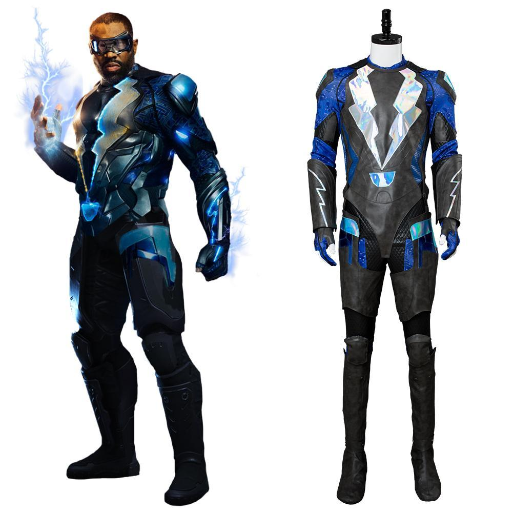 Black Lightning Traje de Jefferson Pierce Cosplay Disfraz