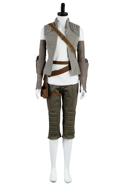 Star Wars 8 The Last Jedi Rey Traje Cosplay Disfraz