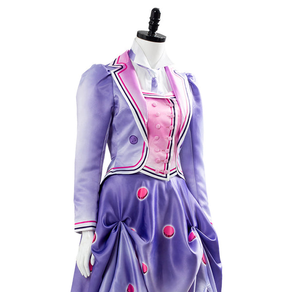 Hand Panted Cosplay 2018 Mary Poppins Returns 2 Jane Banks A Cover Is Not The Book Vestido Cosplay Disfraz