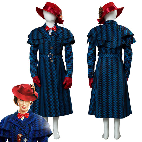 Mary Poppins Returns Mary Poppins Traje para Niños Cosplay Disfraz