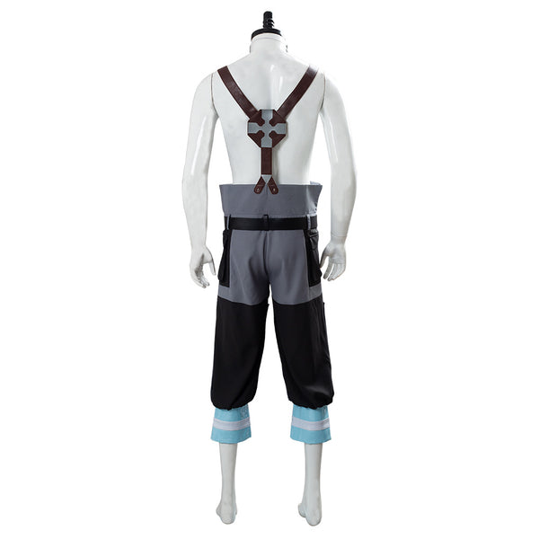 Enen no Shouboutai Fire Force Shinra Kusakabe Firefighter Uniforme Bombrero Cosplay Disfraz