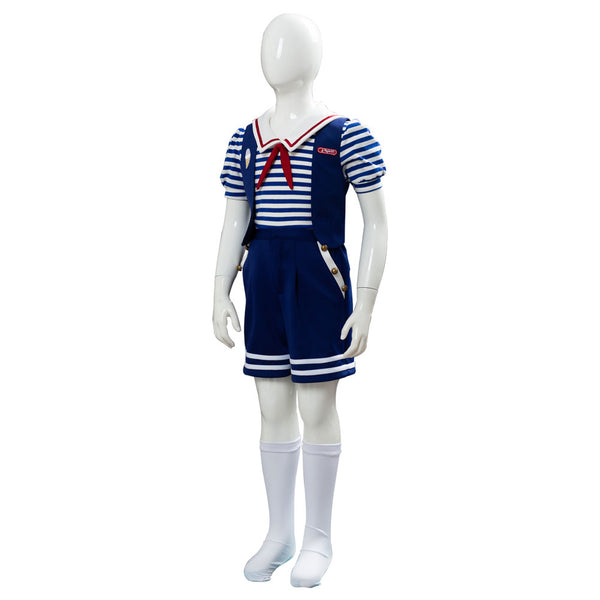 Stranger Things Temporada 3 Scoops Ahoy Robin Uniforme Conjunto Cosplay Disfraz para Niños
