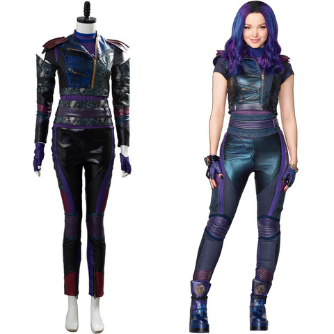 Descendants 3 Mal Traje Conjunto Cosplay Disfraz