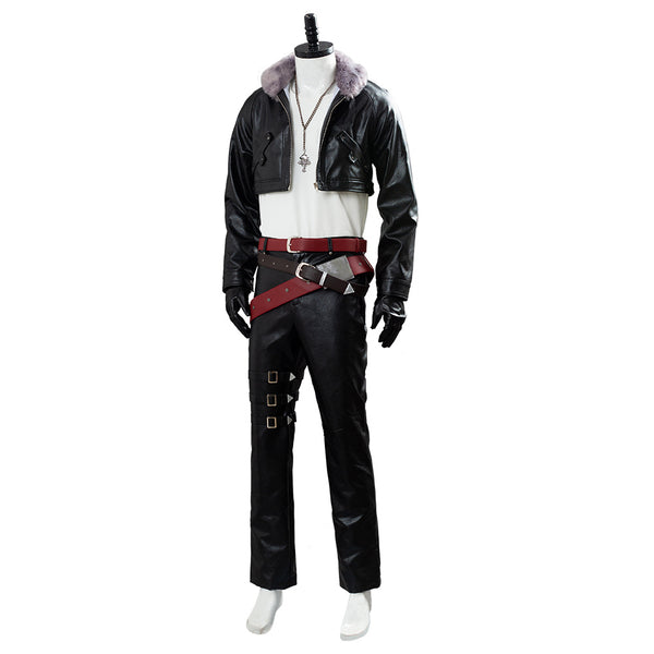 Final Fantasy 8 Remastered Squall Leonhart Traje Negro Cosplay Disfraz
