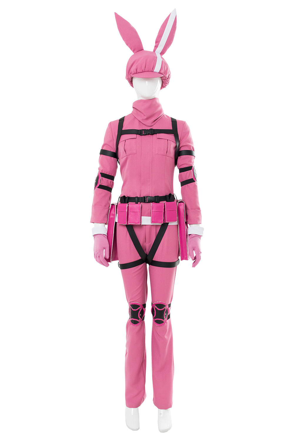 Sword Art Online Alternative - Gun Gale Online LLENN Traje Cosplay Disfraz Rosado