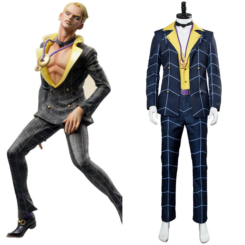 Anime JoJo's Bizarre Adventure: Golden Wind Prosciutto Cosplay Disfraz