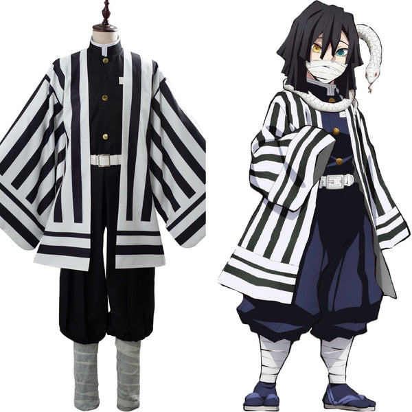 Demon Slayer: Kimetsu no Yaiba Iguro Obanai Uniforme Conjunto Cosplay Disfraz