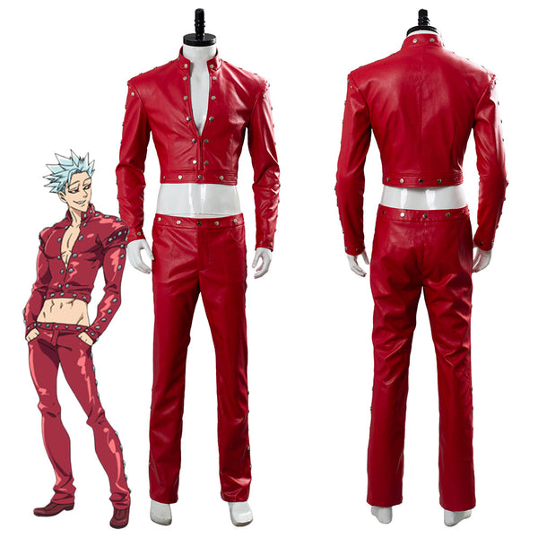 The Seven Deadly Sins Nanatsu no Taizai Wrath of The Gods Ban Traje Cosplay Disfraz