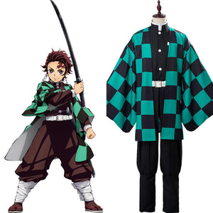 Tanjirou/Tanjiro Kamado Demon Slayer: Kimetsu no Yaiba Uniforme Cosplay Disfraz