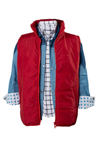 Back To The Future Marty McFly  Chaleco rojo Cosplay disfraz