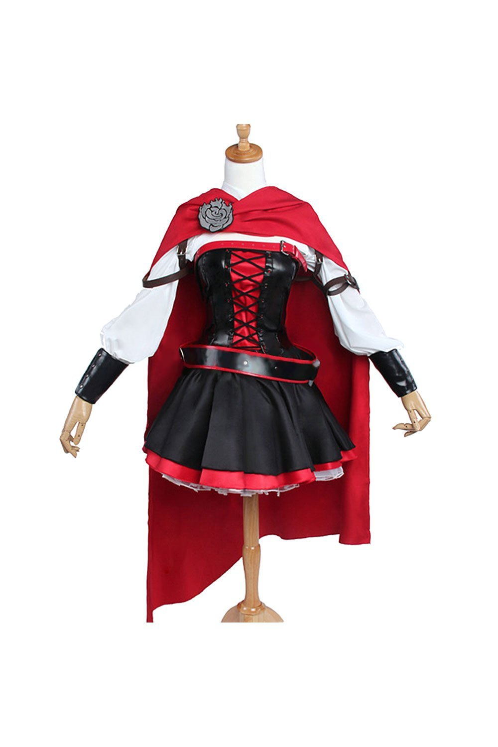 RWBY 3 Ruby Rose Battler Vestido Cosplay Disfraz