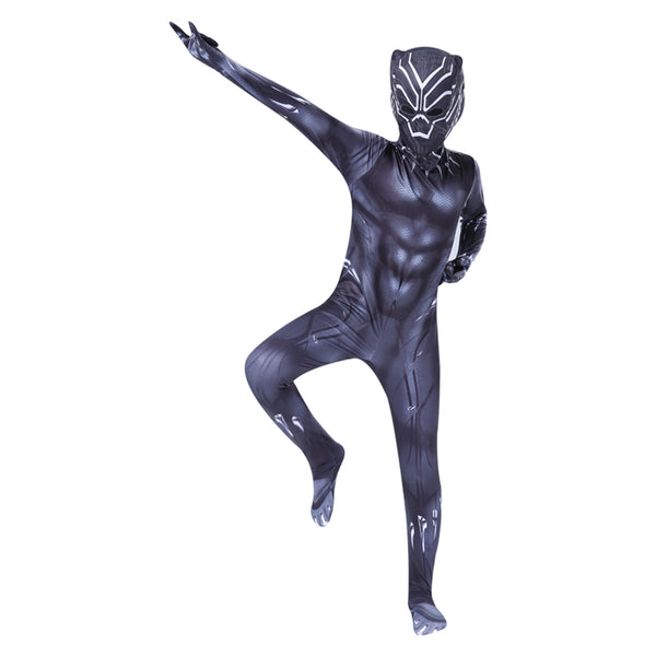 Los Vengadores Superhero Black Panther Muscle Halloween Cosplay Disfraz