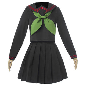 Demon Slayer Nezuko Kamado Sailor Uniforme Versión Femenino Cosplay Disfraz