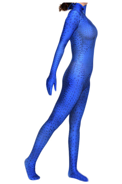 Marvel X-men Mystique Raven Darkholme Mono Azul Cosplay Disfraz
