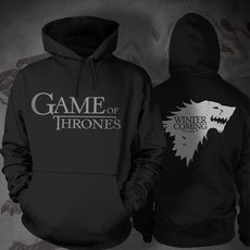 Game of Thrones Stark Black Hooded T-shirt Disfraz(Envio GRATIS)