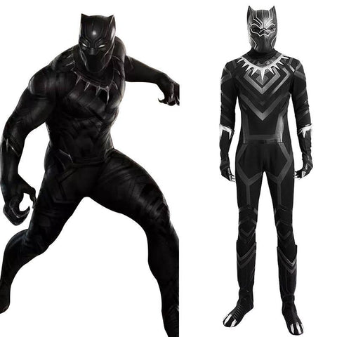 Black Panther T'Challa Outfit Cosplay disfraz Captain America 3: Civil War Coplay
