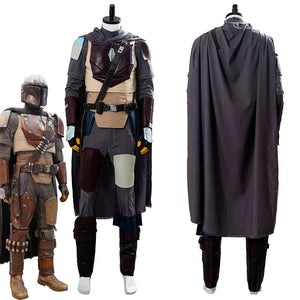 Star Wars La Guerra de Las Galaxias The Mandalorian Uniforme Cosplay Disfraz
