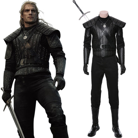 The Witcher Cavill Geralt of Rivia Uniforme Cosplay Disfraz